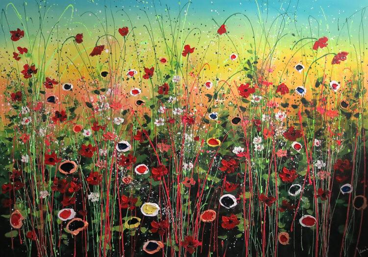 """Schilderij """"Flower garden iii"""""""
