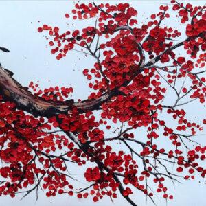 """Schilderij """"Red tree II"""""""