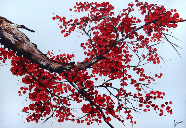 "Schilderij ""Red tree II"""