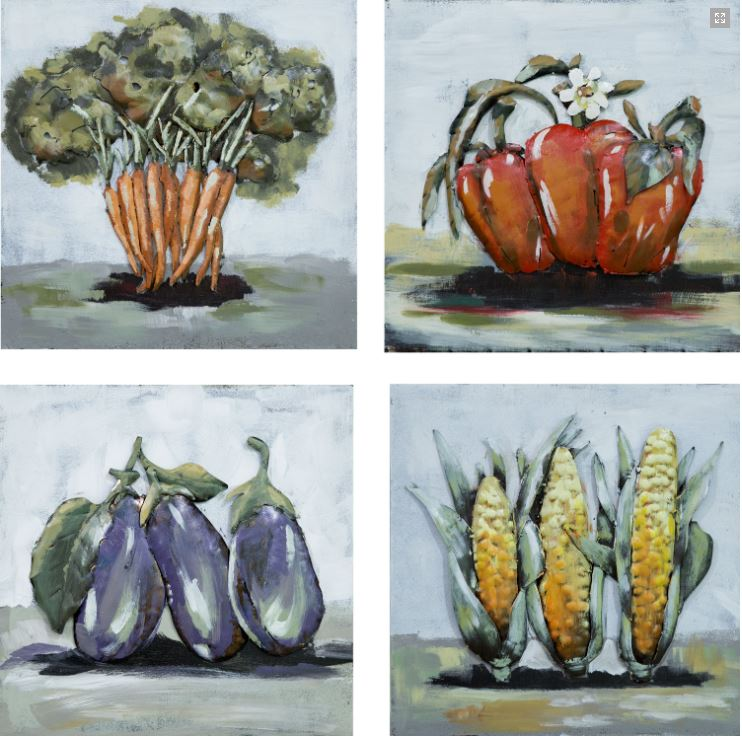 "Metalen Schilderij ""Healthy Vegetables"""
