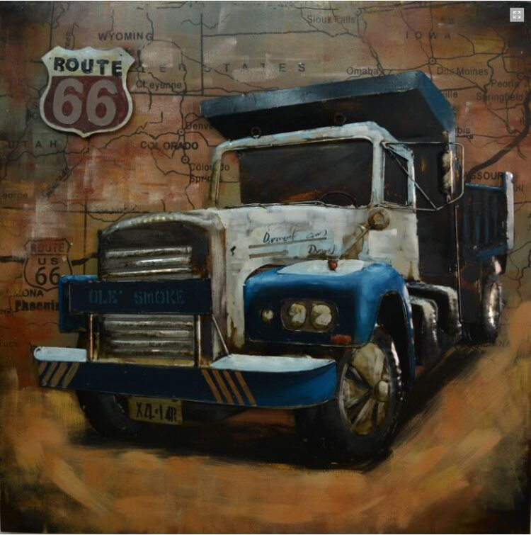 "Metalen Schilderij ""Truck on the Phoenix Route"""