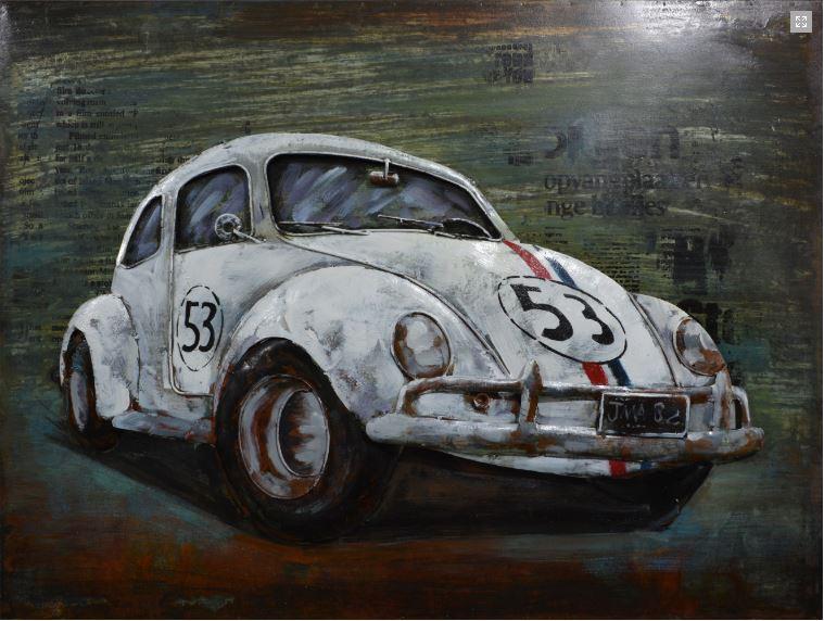 Metalen schilderij Beetle 53