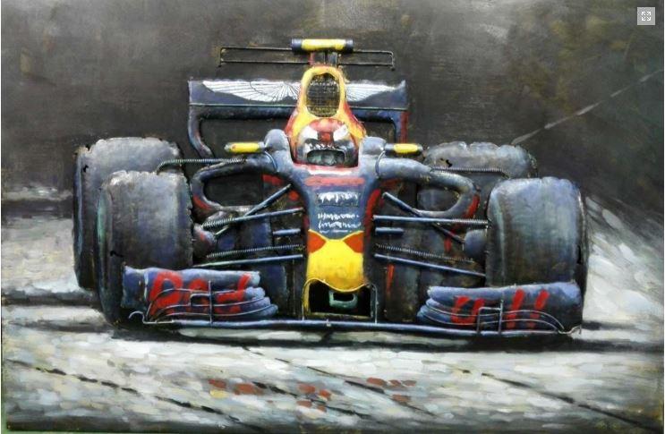 """Metalen schilderij """"Formula One Red Bull"""""""