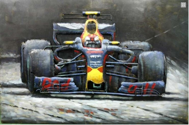 "Metalen schilderij ""Formula One Red Bull"""