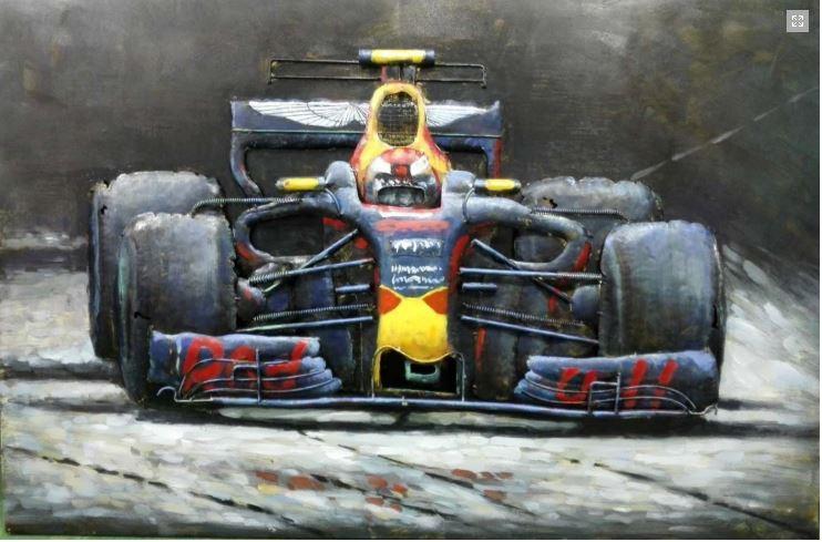 Metalen schilderij Formula One Red Bull