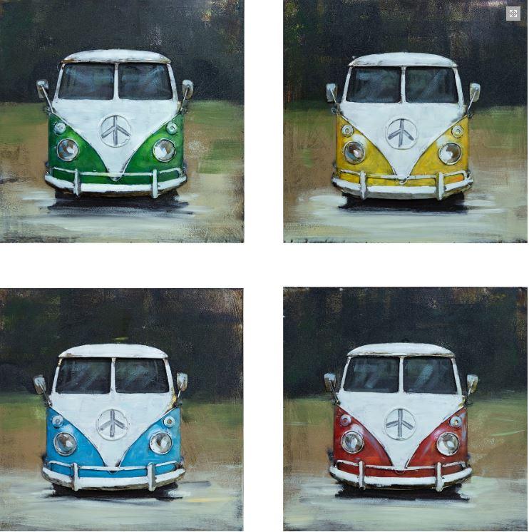 """Metalen schilderij """"Mercedes-Benz Classic O 319"""""""