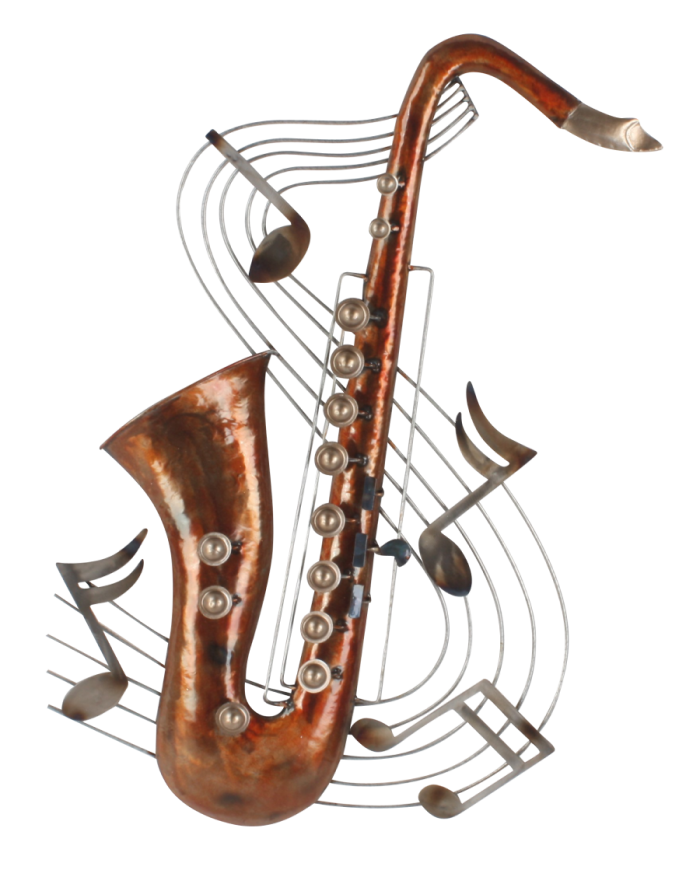 """Metalen wanddecoratie """"Saxofun"""""""
