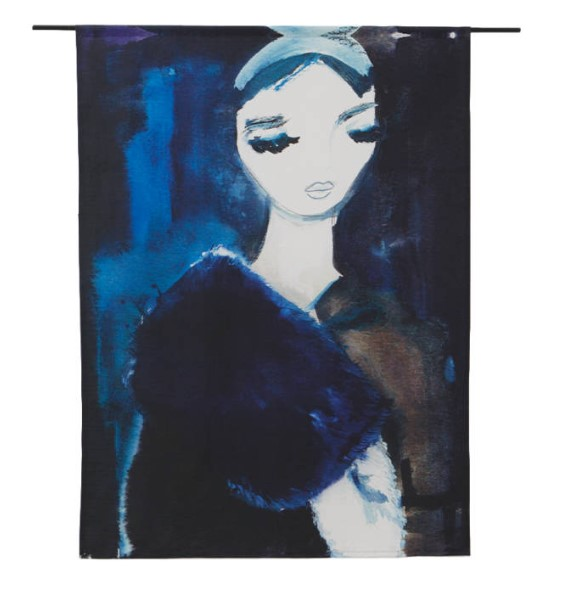 "Wandkleed ""Lady in Blue"" van Urban Cotton"