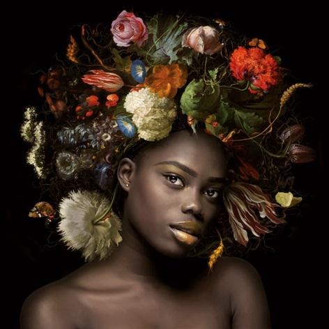 Aluminium schilderij Flower power Sophia Dib1759