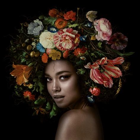 "Aluminium schilderij ""Flower Power Bridget"" van Mondiart"