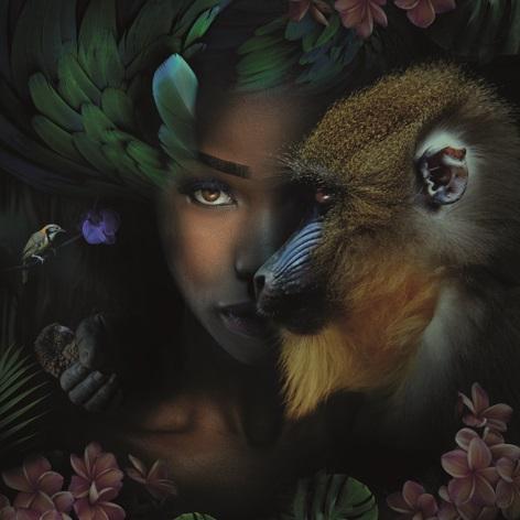 """Aluminium schilderij """"Monkey & me"""" van MondiArt"""