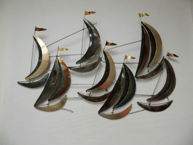 "Metalen wanddecoratie ""Sail"""