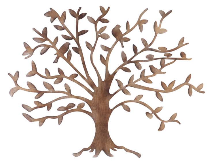 "Metalen wanddecoratie ""Tree of Friendship"""