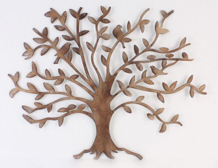 """Metalen wanddecoratie """"Tree of Friendship"""""""