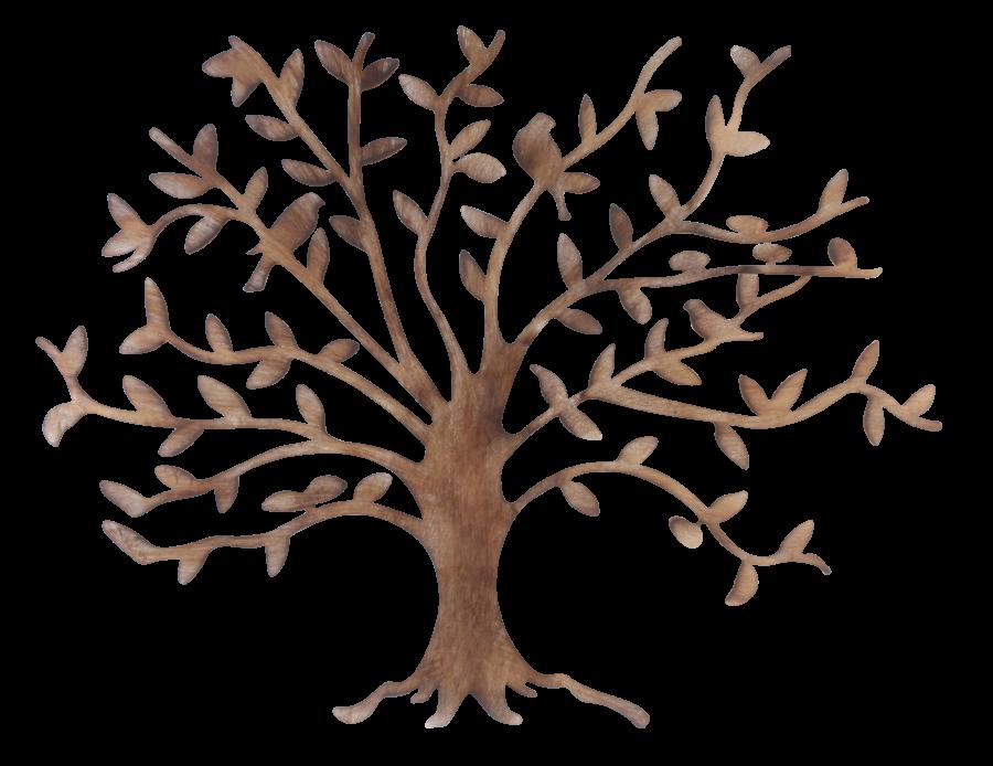 Metalen wanddecoratie Tree of Friendship