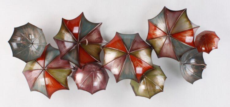 """Metalen wanddecoratie """"Umbrellas"""""""