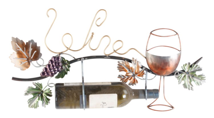 "Metalen wanddecoratie ""Wine for the Good"""