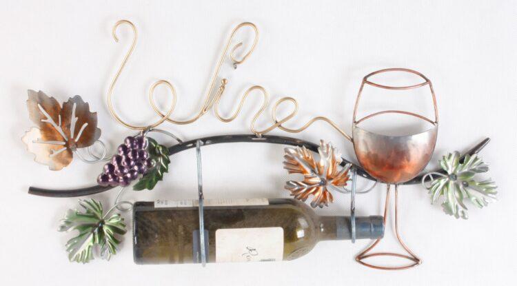 """Metalen wanddecoratie """"Wine for the Good"""""""