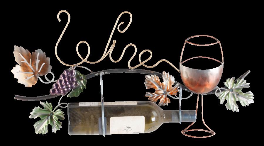 Metalen wanddecoratie Wine for the Good