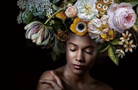"Aluminium schilderij ""Flower Power Amelia"" van MondiArt"