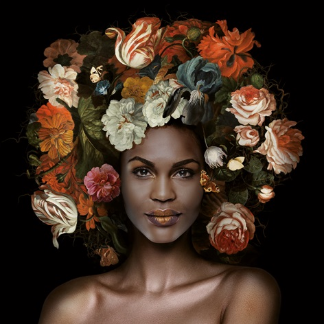 "Aluminium schilderij ""Flower Power Anna"" van Mondiart"