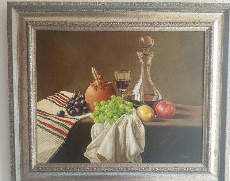 "Schilderij ""Stilleven"" van Arthur Sanosian"