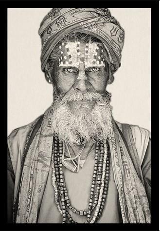 """Portrait Gobelin """"Bandu Baba"""" van Mondiart"""