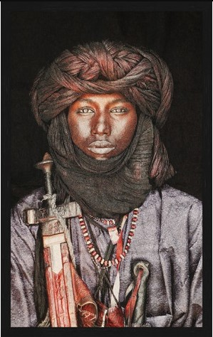 "Portrait Gobelin ""Dawo Fulani Tribe"" van Mondiart"