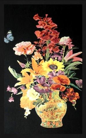"""Portrait Gobelin """"Flower Vase"""" van Mondiart"""