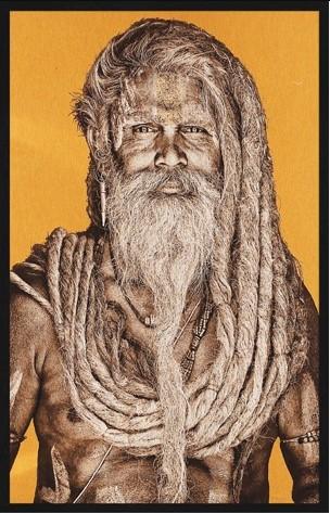 "Portrait Gobelin ""Gangadas Baba Bright"" van Mondiart"