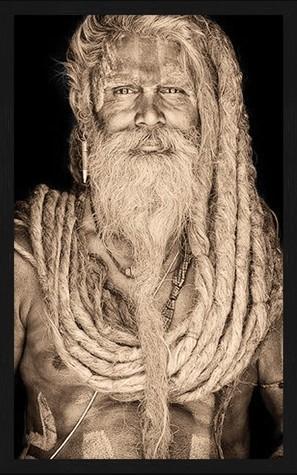 Portrait Gobelin Gangadas Baba Sepia van Mondiart