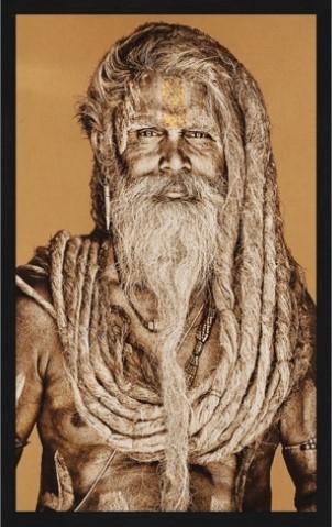 "Portrait Gobelin ""Gangadas Baba Yellow"" van Mondiart"