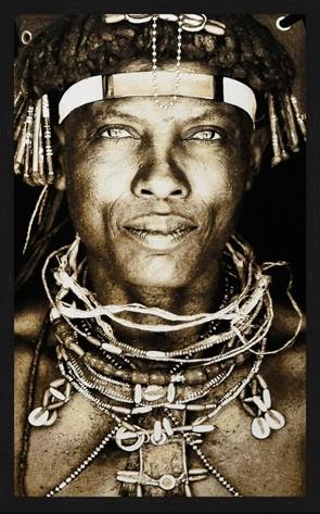 "Portrait Gobelin ""Ovakaona Tribe"" van Mondiart"