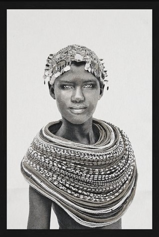 """Portrait Gobelin """"Samburu Girl"""" van Mondiart"""