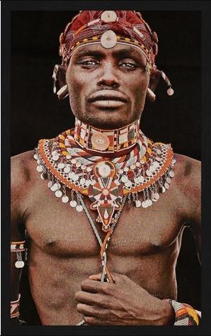 Portrait Gobelin Samburu Man van Mondiart