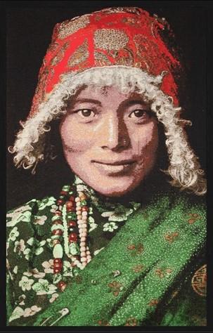 "Portrait Gobelin ""Tibetan Woman"" van Mondiart"