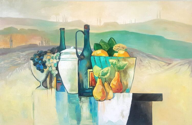 """Schilderij """"Toscaans Landschap"""""""