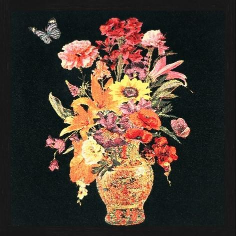 Vierkant Gobelin Flower Vase van Mondiart
