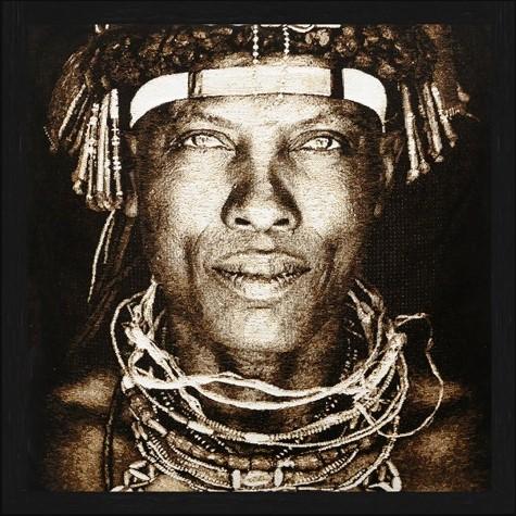 """Vierkant Gobelin """"Ovakaona Tribe"""" van Mondiart"""