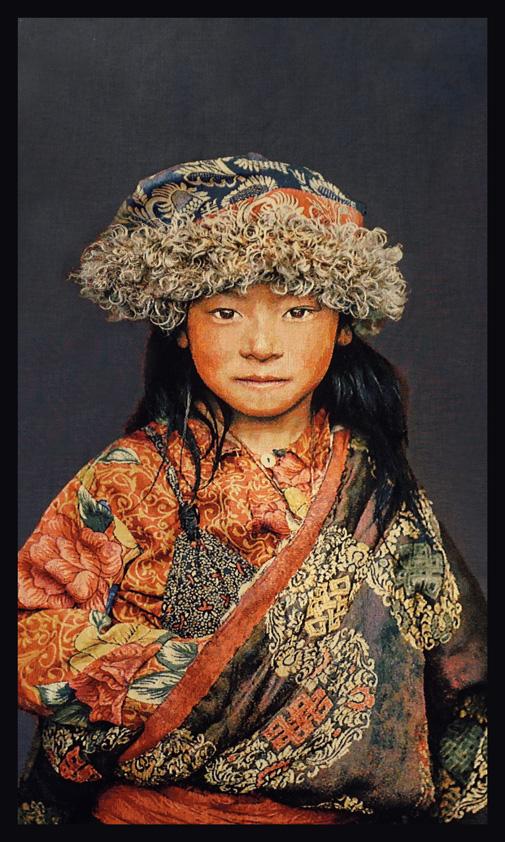 "Portrait Gobelin ""Tibetan Child"" van Mondiart"