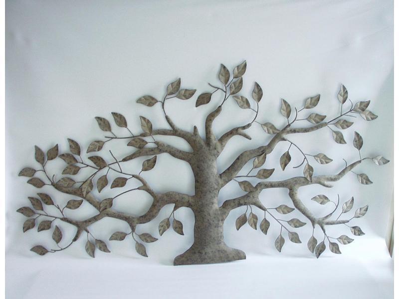 olijfboompje metalen wanddecoratie