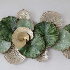 """Metalen wanddecoratie """"Coral Green"""""""