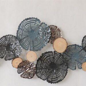 """Metalen wanddecoratie """"Coral Grey"""""""