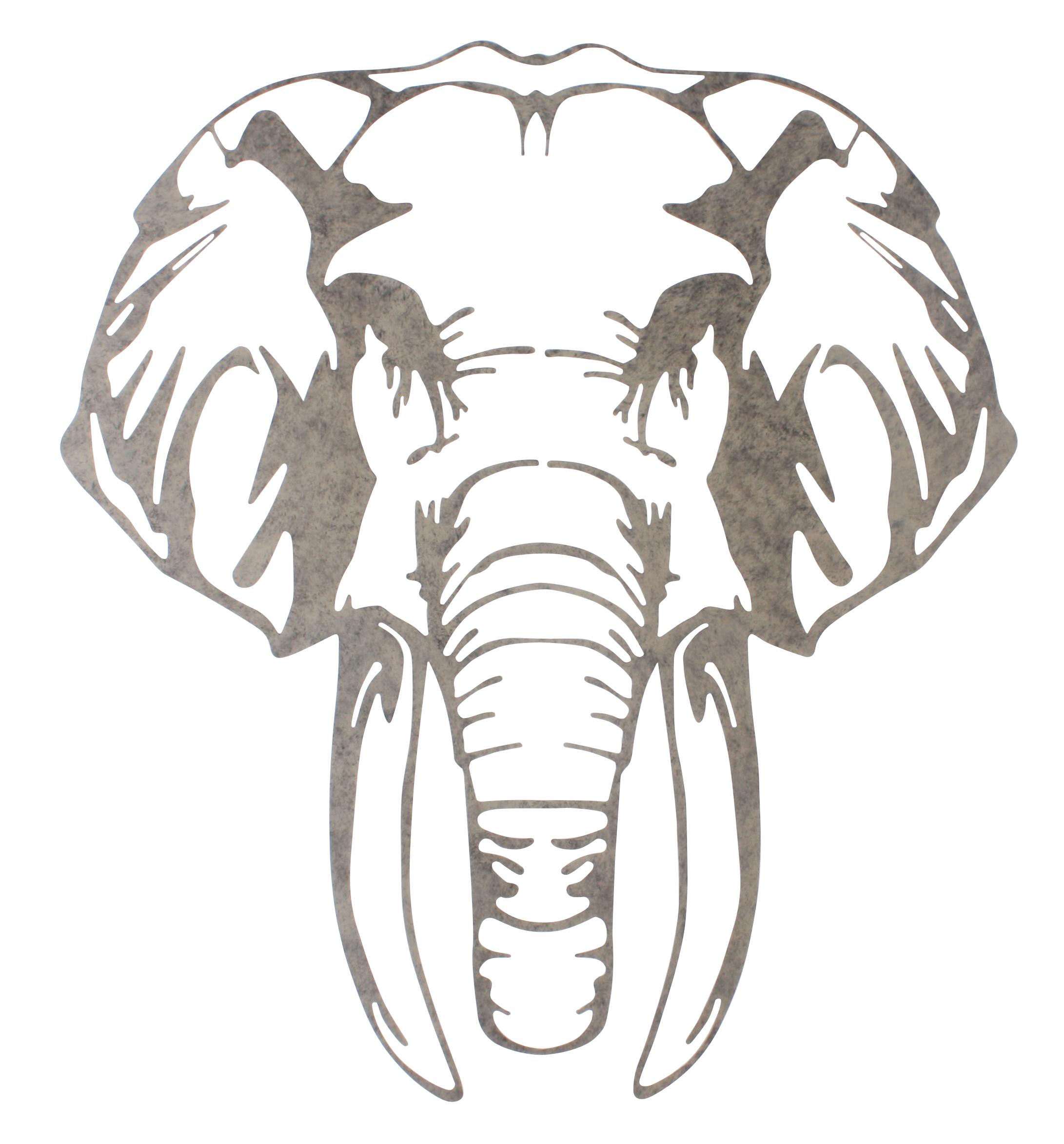 Metalen wanddecoratie Elephant wise