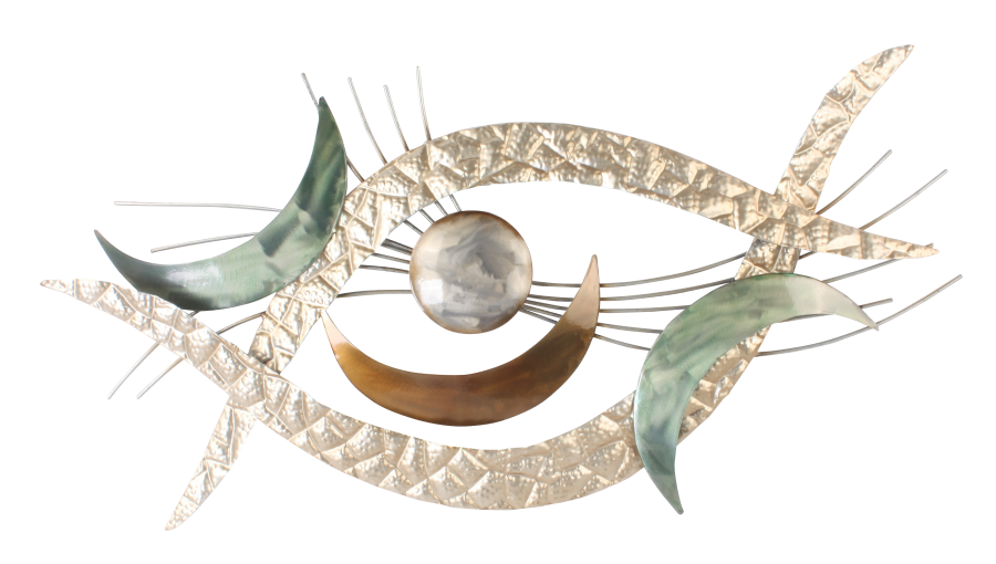 Metalen wanddecoratie Eye of the galaxy