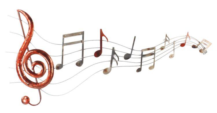 """Metalen wanddecoratie """"Let the music Flow"""""""