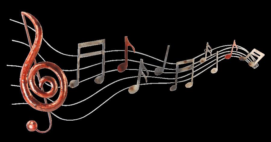 Metalen wanddecoratie Let the music Flow