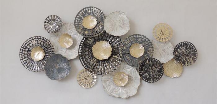 "Metalen wanddecoratie ""Pearly"""