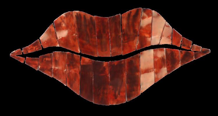 """Metalen wanddecoratie """"Red Lips"""""""