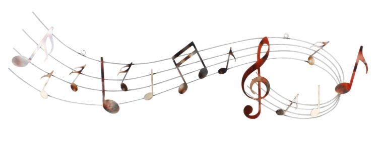 "Metalen wanddecoratie ""Sounds in succession"""
